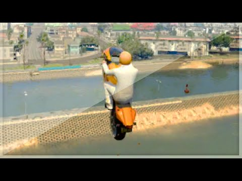 Water Gap Stunt For Dummies (GTA 5 Funny...