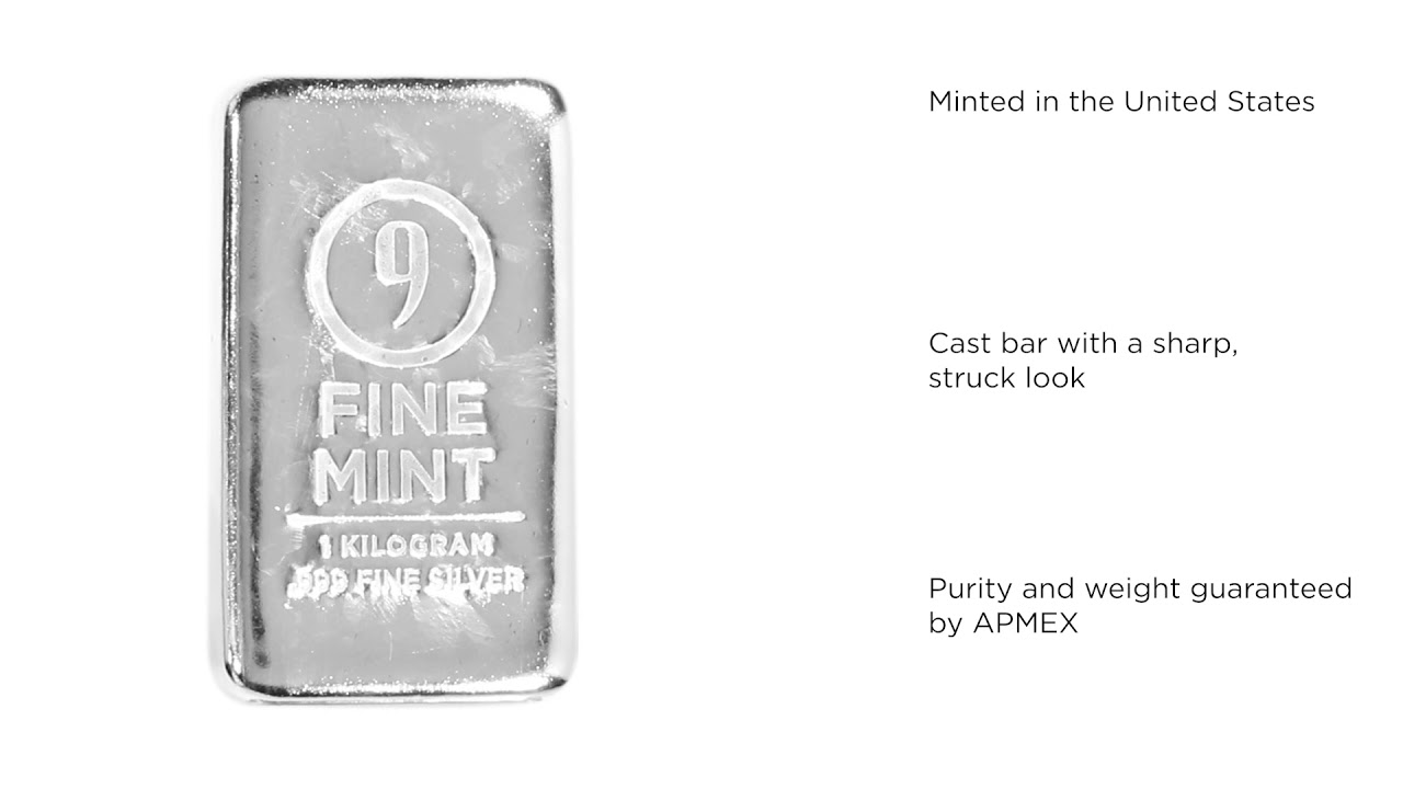 1 Kilo Silver Bar 9fine Mint Youtube