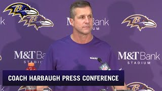 Coach Harbaugh Talks Playoff Loss | Baltimore Ravens
