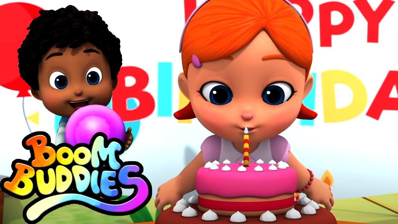 Feliz aniversário   Canção infantil   Educação   Boom Buddies Portugues   Musica para bebes