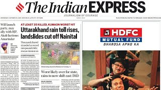 The Indian Express Newspaper Review 20 October 2021