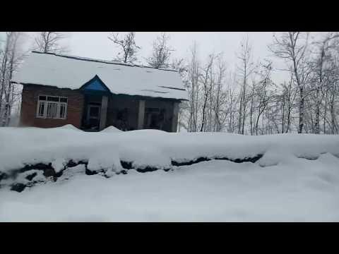 Srinagar in snow