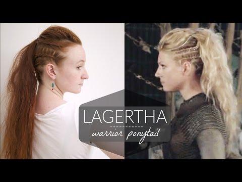 Lagertha Vikings Warrior Ponytail How To Youtube