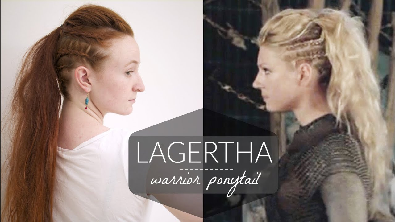 lagertha vikings warrior ponytail how to