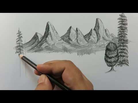 رسم مناظر طبيعية بالرصاص بسيطة لم يسبق له مثيل الصور Tier3 Xyz