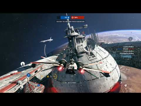 Destroying the Droid Command Ship - Star Wars Battlefront 2 Starfighter Assault