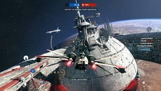 Destroying the Droid Command Ship - Star Wars Battlefront 2 Starfighter Assault