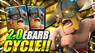 2.0 ELIXIR FASTEST ELITE BARBARIAN CYCLE DECK EVER!! THIS IS INSANE!!