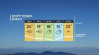 התחזית 30.03.20: עלייה ניכרת בטמפרטורות