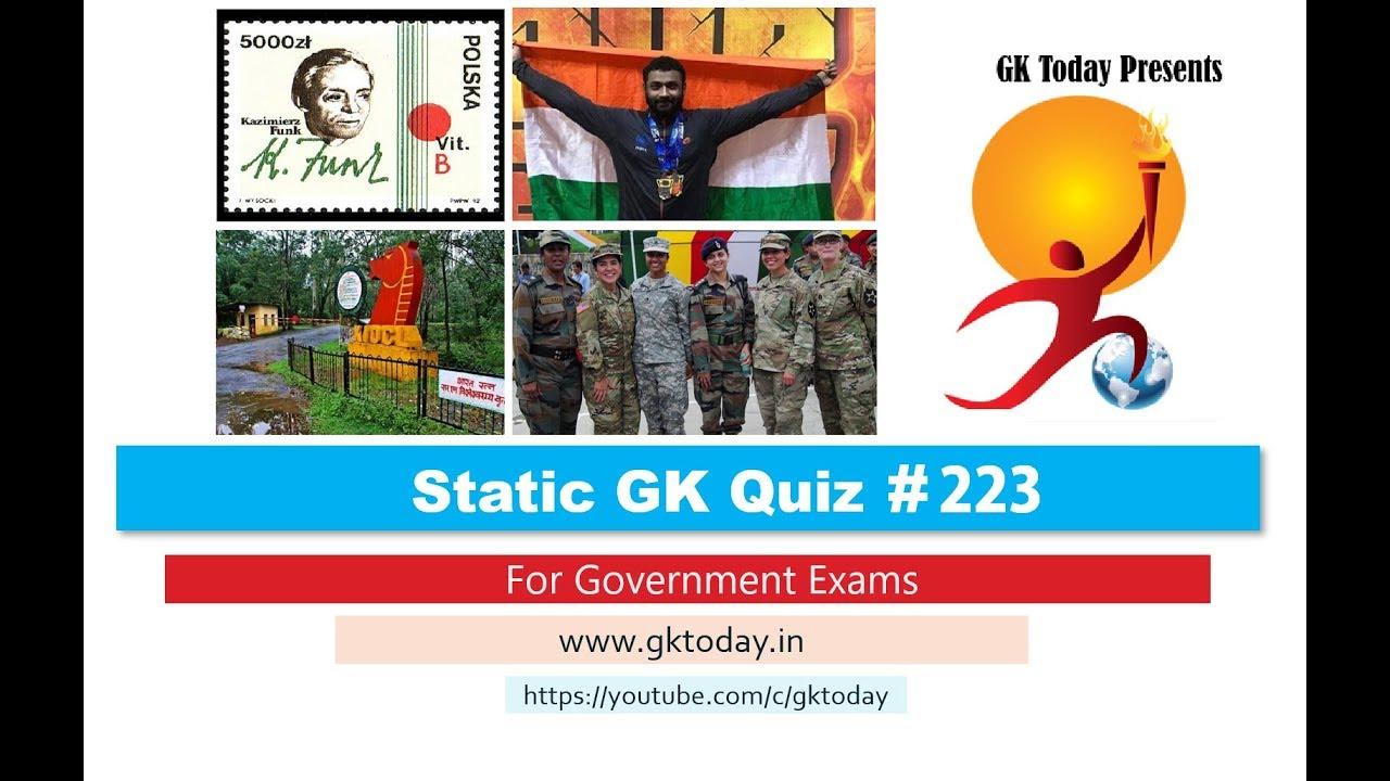 GKToday's Static GK Quiz-223