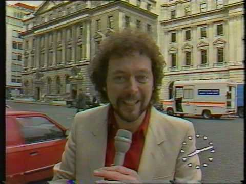 Candid camera with Jeremy Beadle clamping a police car - TV-am 1984