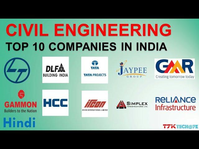 Top 10 Construction Companies In India Of Civil Engineering स व ल इ ज न यर ग क ट प ट न क पन Youtube