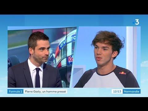 Le pilote de F1, Pierre Gasly, invité de France 3 Normandie