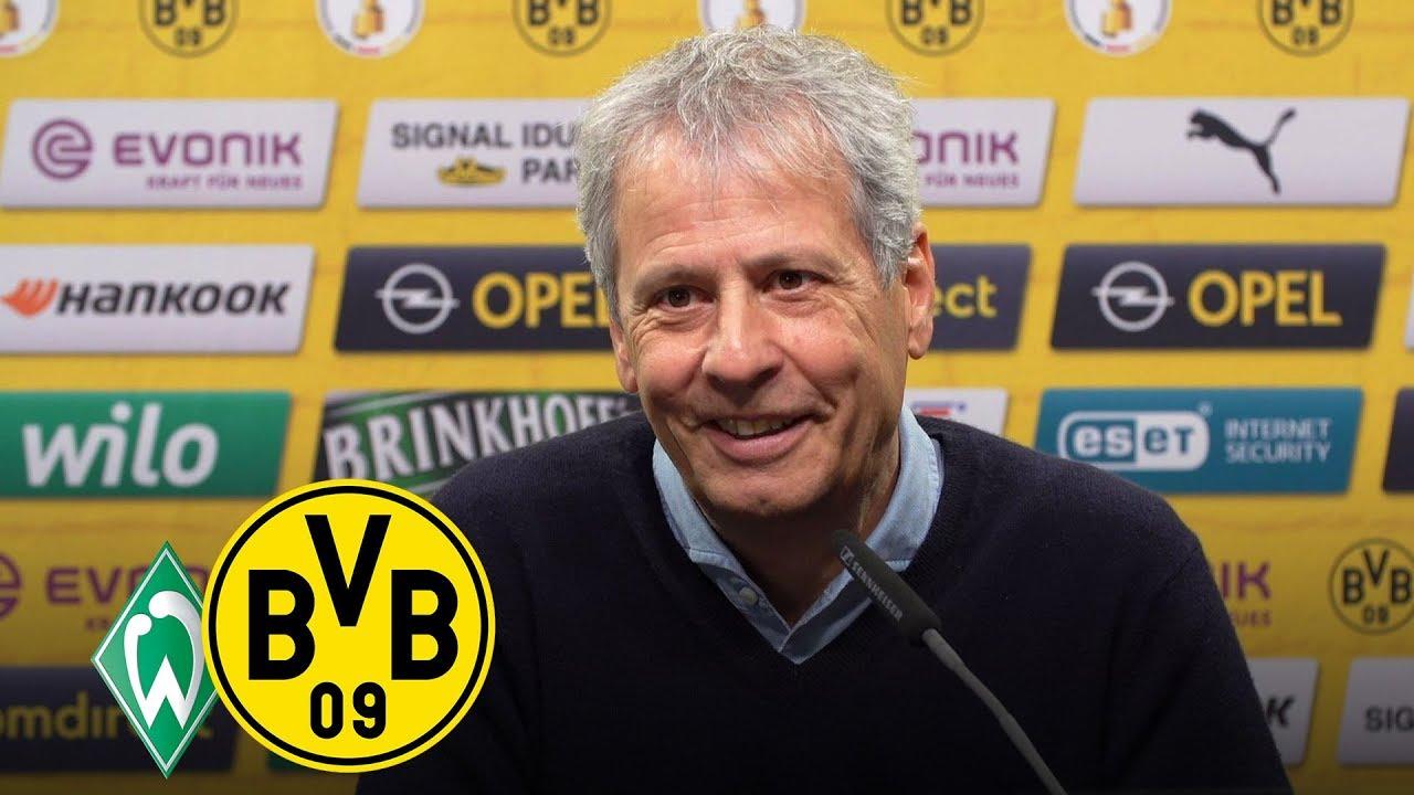 LIVE: Pressekonferenz mit Lucien Favre | Werder Bremen - BVB | DFB-Pokal