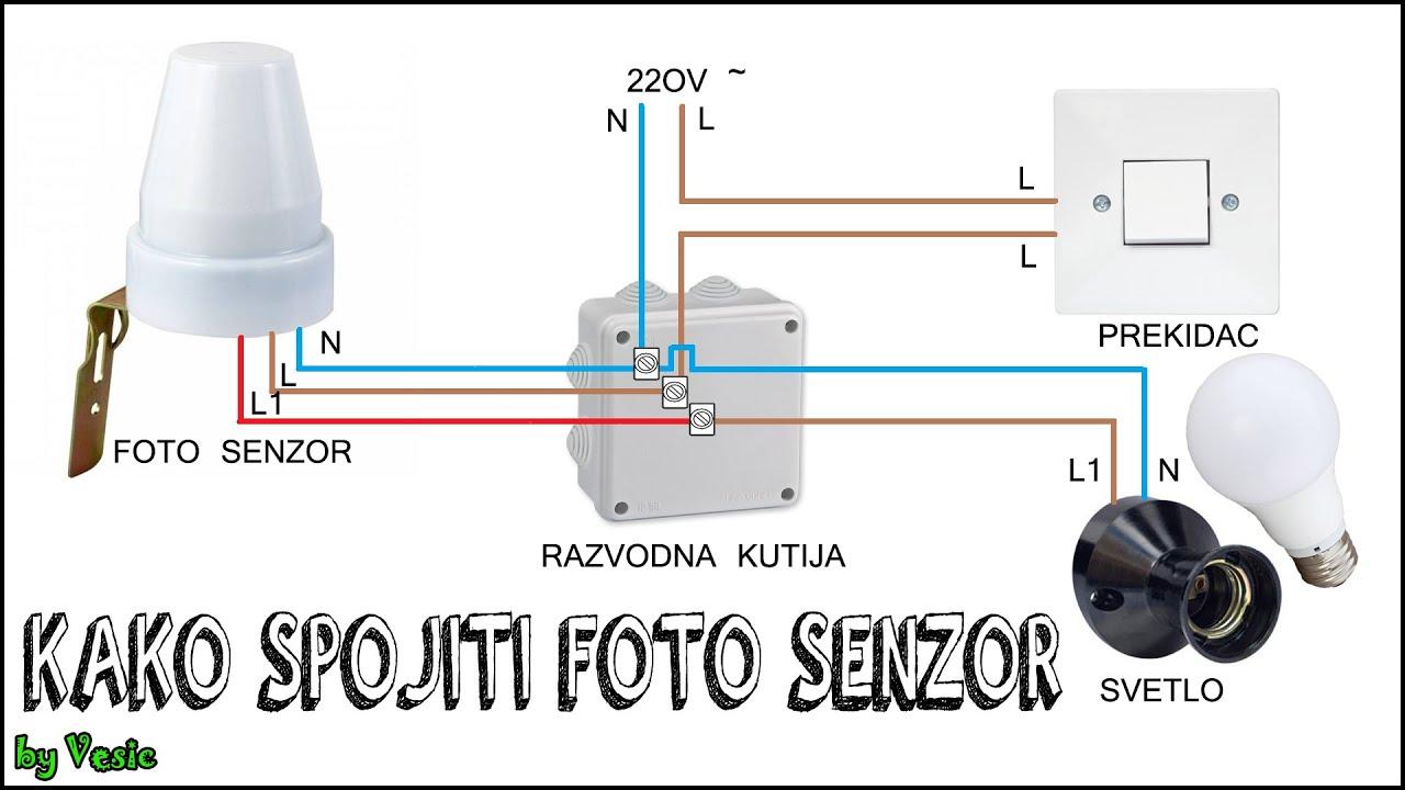 Kako povezati foto senzor
