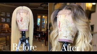 How to dye 613 roots| How to tone 613 roots| how to do bombshell curls