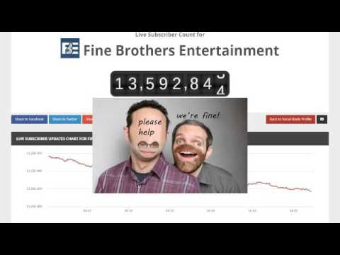 Fine Bros Subscriber Countdown Real Time
