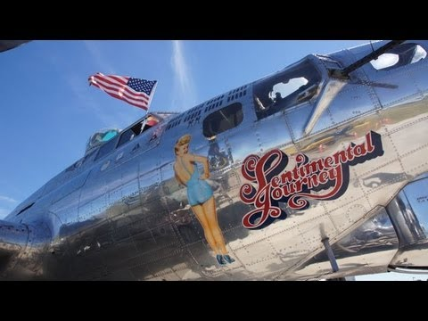A Inside tour of a B17 flying fortress, Sentimental Journey