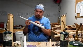 How to make a Low Bass A Native American Flute from PVC