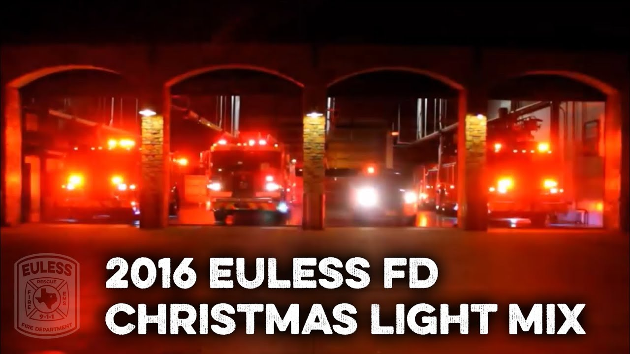Euless Fire Department Christmas Lights Mix - YouTube