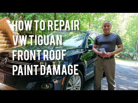VW/Volkswagen Tiguan How to Repair Front Roof Paint Damage/Chips/Peeling
