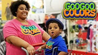MOM SHOP FOR CLOTHES AT TARGET! Learn Math with Goo Goo Colors