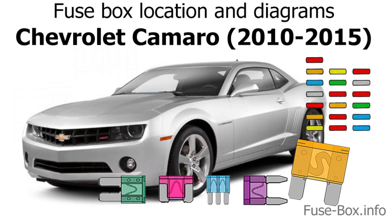 fuse box location and diagrams: chevrolet camaro (2010-2015)