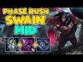 PHASE RUSH SWAIN MID IS A CARRYING MONSTER | League of Legends Gameplay