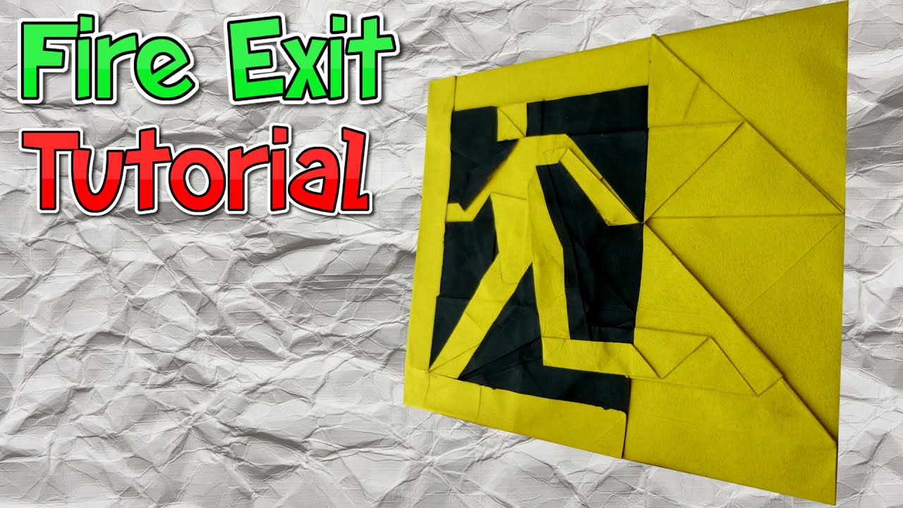 Origami fire exit sign tutorial youtube origami fire exit sign tutorial jeuxipadfo Gallery