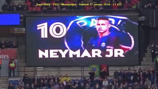 PSG / Montpellier 27.01.2018 : 4-0 (L1 J23) 3/5 : Composition du PSG
