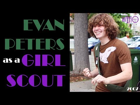 Evan Peters as a Girl Scout