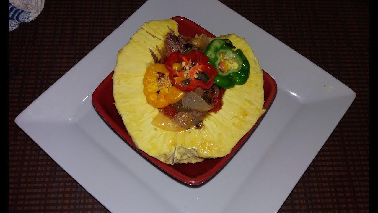 roast breadfruit and salt mackerel bowl  jamaican style