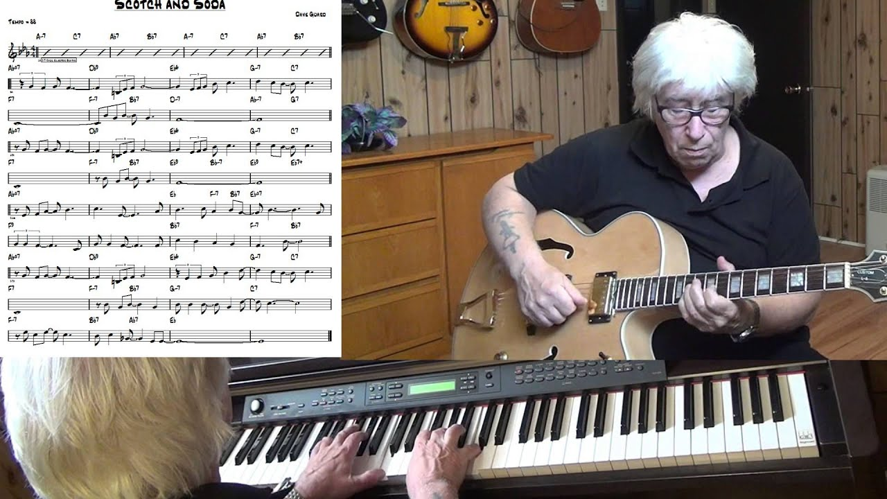 Scotch And Soda Jazz Guitar Piano Cover Yvan Jacques Youtube