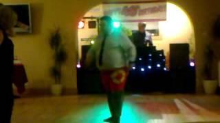Andy's break dancing