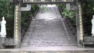 海軍陸戰隊黑衣部隊訓練場之一(法興禪寺遇暴雨變樓梯瀑布)