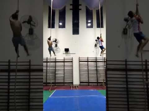 Rope race by :anant and gymnast karan