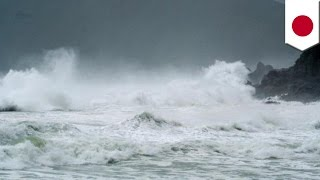 Typhoon Phanfone: US airman dead and 2 are missing after wave sweeps them out to sea off Okinawa