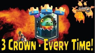 clash royale 3 crown deck every time best lava hound inferno dragon deck