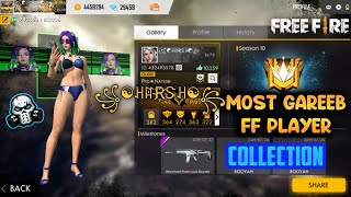 FREEFIRE MOST GAREEB PLAYER COLLECTION 😂 || PRO NATION ꧁☯ꃅꍏR҉Ꮥꃅ☯꧂ ALL COLLECTION 🔥