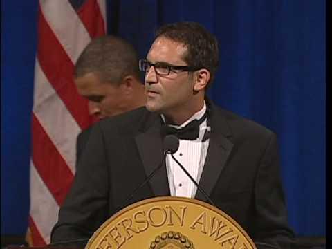 Tad Agoglia accepts 2010 Jefferson Award Washington DC Video