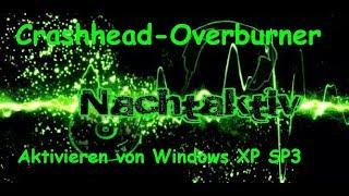 Windows XP SP3 Freischalten Aktivieren ohne Lizenzschlüssel,Activator,Serial-Key umgehen (regedit)