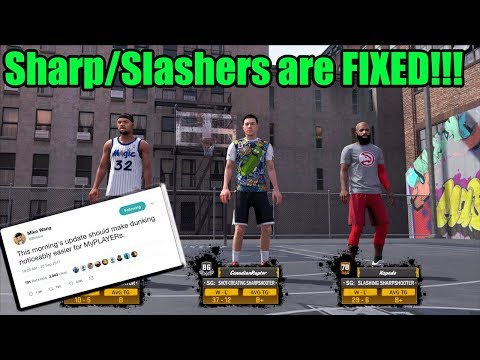 Sharp/Slashers Are BACK | NBA 2K18 Playground | Dunking is FIXED!!
