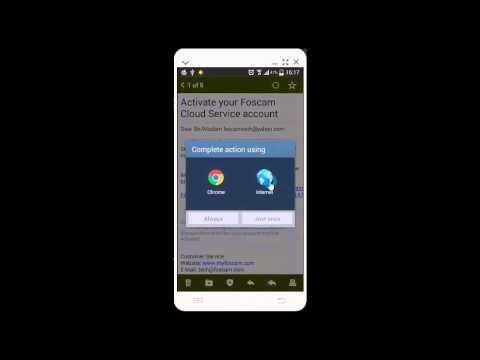Foscam App Video Tutorial: How To Apply For A Foscam Cloud Account On Android App Foscam