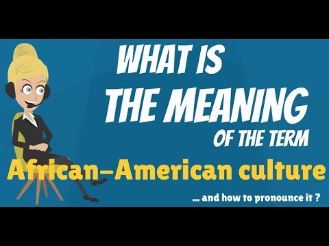 What is AFRICAN-AMERICAN CULTURE? What does AFRICAN-AMERICAN CULTURE mean?