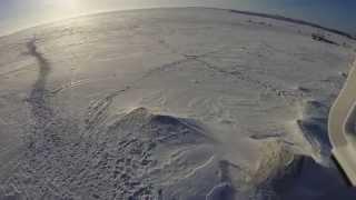 Зимние съёмки с квадрокоптера Phantom FC40 на Обском море