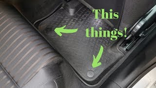 How to add plastic retaining clips for the rear floor mats in any car