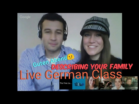 Live German Class. Topic: Family Vocabulary ❤ A1 Learn German