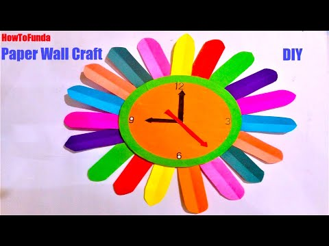 Download Paper Wall Clock Craft Ideas Wall Clock For Kids Project