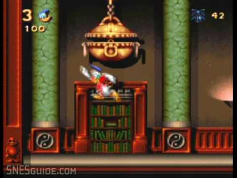 Maui Mallard in Cold Shadow - SNES Gameplay |