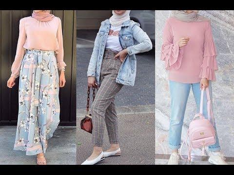 c00b61723 تنسيق ملابس محجبات للربيع للأنيقات 2019 Early Spring Hijab Lookbook ...
